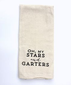 Love this 'Stars and Garters' Tea Towel by IScreenYouScreen on #zulily! #zulilyfinds