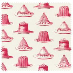 Raspberry Jelly & Cake on ivory linen | Thornback and Peel Ltd