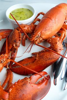 Simple But Elegant Surf & Turf: Filet and Lobster for Two - 3 Scoops of Sugar Seafood Salad, Seafood Pasta, Fish And Seafood, Steak Recipes, Gourmet Recipes, Canadian Lobster, Steak And Lobster, Live Lobster, T Bone Steak