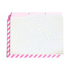 get it sorted file folder set - petite party dots + ticket stripe