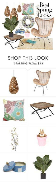 """Spring 2016"" by kikiseppr on Polyvore featuring interior, interiors, interior design, home, home decor, interior decorating, David Trubridge, H&M, Pier 1 Imports and Vera Bradley"