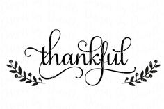 Thankful Thanksgiving SVG Cutting File By Designs by Danielle $1