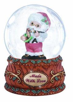 Precious Moments Annual Santa with Rocking Horse Waterball