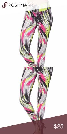 Active Sport Wear Digital Print Scuba Yoga legging NWT Premium Active Sport Wear Digital Print Scuba Yoga Pants Leggings. Made of four-way stretch digital print fabric with a second-skin fit, they give you room to move—whether you're doing back bends or box jumps. Sweat-wicking fabric is cool to the touch and offers smooth, low-friction performance Added spandex bends with you and stays in great shape 90% polyester, 10% spandex. SIZE S/M AND L/XL  COLOR: MULTI TES BOUTIQUE Pants Leggings