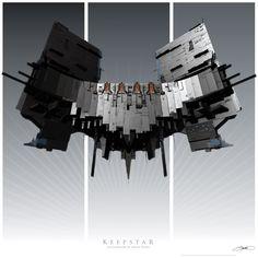 https://flic.kr/p/G99cya | Keepstar Art Print Poster | The Keepstar Citadel from…