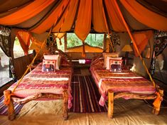 Elephant Watch Camp in the Samburu National Reserve Kenya