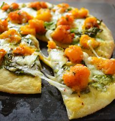 This Butternut Squash Pizza is made with a homemade Crazy Dough crust