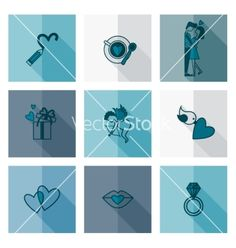 Happy valentines day icons vector by HelenStock on VectorStock®