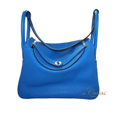 Lindy 34 Blue Hydra with material 100% genuine leather size : 34 x 22 x 17,5 in cm