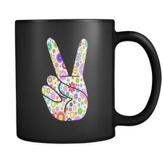 Peace Sign Hand Flowers