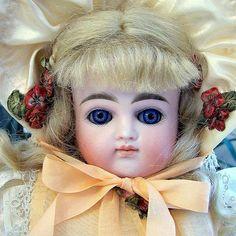 Kestner  German  Bisque Doll  Antique Closed by EastCoastElegance1