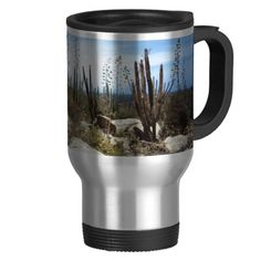 Aruba Landscape With Cactus Coffee Mugs    •   This design is available on t-shirts, hats, mugs, buttons, key chains and much more    •   Please check out our others designs and products at www.zazzle.com/zzl_322881145212327*