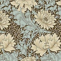 William Morris Merton Fabric - Chrysanthemum - Half Yard - Red Floral Reproduction Fabric Large Scale Morris & Co Free Spirit William Morris Patterns, Hancocks Of Paducah, Design Exterior, Interior Design, Free Spirit Fabrics, Blue Mosaic, Arts And Crafts Movement, Textiles, Chrysanthemum