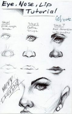 Art drawings · eye, nose and lip tutorial! it's in the shadows drawing practice, drawing lessons Drawing Lessons, Drawing Techniques, Drawing Skills, Drawing Sketches, Art Drawings, Drawing Ideas, Learn Drawing, Drawing Drawing, Drawing Practice