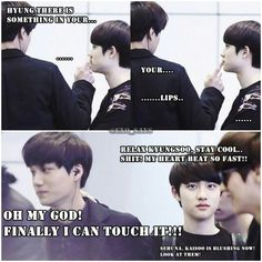 Kaisoo.. loool this feels is like I wana be there to see it personly aigooo!!!! kuyungsoaaaa!!!!!!! <3 <3 lol check luhan XD