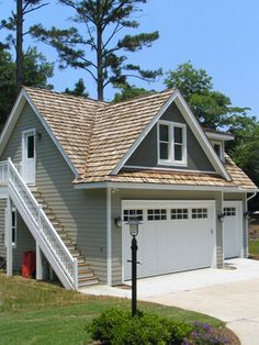 Coastal Projects traditional garage and shed