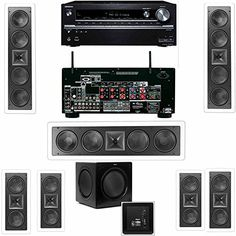 Klipsch KL6504THX3 Speaker InWall 71SW310 Onkyo TXNR838 72 Channel Network White -- Learn more by visiting the image link.