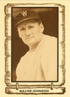 Baseball Hall of Famer Walter Johnson