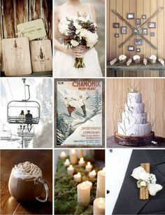 """Vintage ski wedding~ This would have been cool, except I had a """"Shotgun"""" wedding! (:"""
