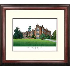Campus Images Alumnus Lithograph Framed Photographic Print NCAA Team: Towson Tigers