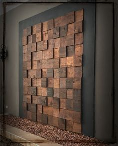 - Home Improvement - Hier finden Sie Fotos mit Einrichtungsideen. - Home Improvement - Reclaimed Wood Sound Diffuser Acoustic Panel SoundProofing Wooden Wall Decor, Wooden Walls, Wooden Wall Design, Wall Wood, Wall Décor, Wall Mural, Pallet Walls, Metal Wall Art, Patio Wall