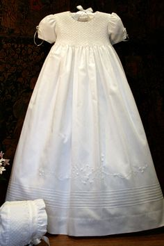 Pearl-embellished christening gown