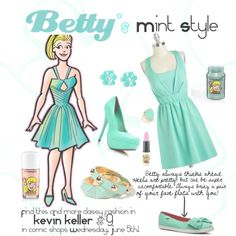 Bettys Mint Style by fashionofarchiecomics on Polyvore