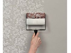 Get the wallpapered look with patterned paint rollers | DIY Home Decor Ideas on a Budget | Click for Tutorial | DIY  Home Decorating on a Budget