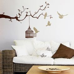 beautiful tattoo for the living room Wand Tattoo, Wall Stickers, Your Design, Kids Room, Sweet Home, Indoor, Living Room, Furniture, Beautiful