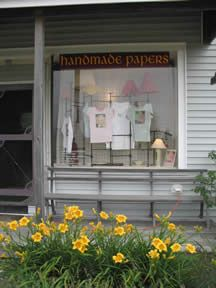 summer storefront...online site is www.handmadepapersonline.  Papers by production papermaker Virginia G. Sarsfield.