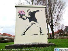 kunstkast pascal de la haye La Haye, Urban Street Art, Street Art Graffiti, Box Art, Holland, Painting, Seeds, Shop Signs, Dutch Netherlands
