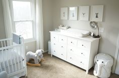 nursery inspiration neutral gray animals