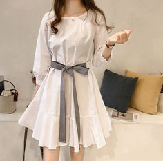 Stylish Dresses, Stylish Outfits, Casual Dresses, Short Dresses, Summer Dresses, Korean Fashion Dress, Ulzzang Fashion, Fashion Dresses, Cute Skirt Outfits