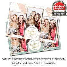 Effortlessly Chic Postcard Photoshop Setup, Photoshop Elements, Photobooth Template, Made In Heaven, Match Making, All Fonts, Text Color, Photo Booth, Bachelorette Parties