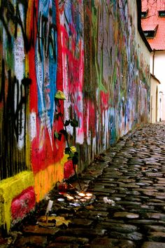 John Lennon Wall #Prague
