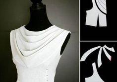 Corpiño cuello drapeado #moldes #patrones #costura