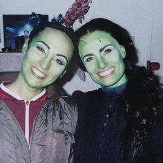 """I love this picture... Eden Espinosa and Idina Menzel, both Elphaba Thropp in """"Wicked"""""""