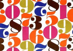 Great colors and number font.