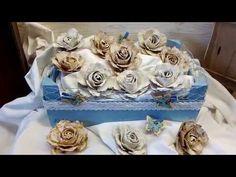 DIY: Rosen aus Servietten(Teil 1)/Roses from napkins(part 2) - YouTube
