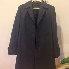 reduced Coat Kristen Blake Coat women's  size 8. Color dark gray. Excellent condition. Looks new. 50% wool, 30% polyester, 20% viscose. Open to any reasonable offer it was 100$ now 80$ Kristen blake Jackets & Coats