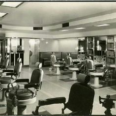 1933: The barber shop at Union Terminal opens along with a tailor shop, Western Union office, movie theater, cocktail lounge and more. Photo credit: Cincinnati Museum Center Photograph Collections