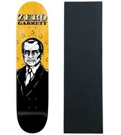 Zero Skateboard Deck Dead Presidents Hill 8.25' Resin 7 with Griptape, Yellow