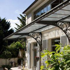in the hills of meudon. Door And Window Design, Window Grill Design, House Gate Design, Front Porch Design, Garage Pergola, Patio Roof, Industrial Architecture, Facade Architecture, Cantilever Carport