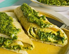 Creamed Spinach. This vegan gf recipe is easy to make, with fresh or frozen spinach. We love it as a filling for dosas (Indian crepes) - as shown in the picture, but it's also great as a dip or sauce.