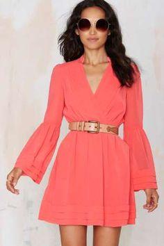 Baby Love Chiffon Dress - Coral | Shop Clothes at Nasty Gal!