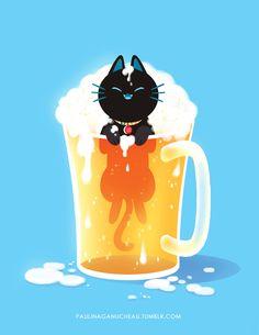 Beer cat.