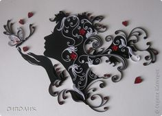 quilling woman