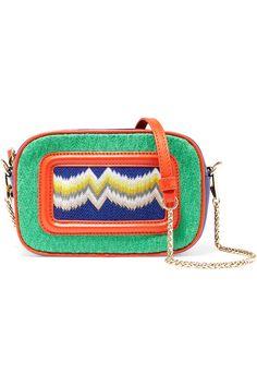 Shop on-sale Missoni Leather-trimmed crochet knit shoulder bag. Browse other discount designer Shoulder Bags & more on The Most Fashionable Fashion Outlet, THE OUTNET.COM
