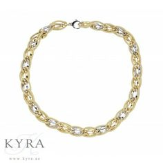 18K Two-Tone Twisted Link Necklace