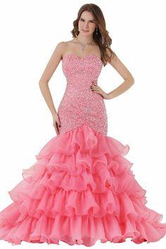 prom dress, mermaid prom dress